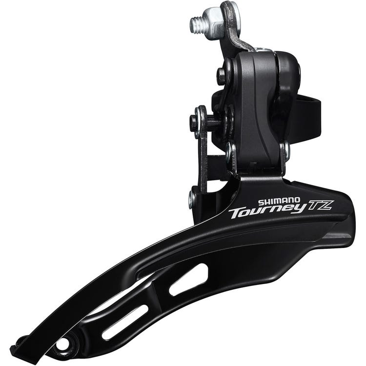 Shimano Tourney / TY FD-TZ500 6-speed MTB front derailleur, down swing, down pull, 31.8mm, 66-69, 42T