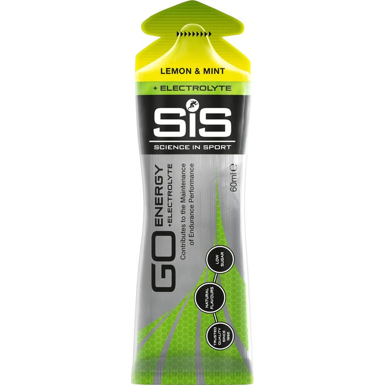 Science In Sport GO Energy + Electrolyte Gel Lemon & Mint - 60 ml tube
