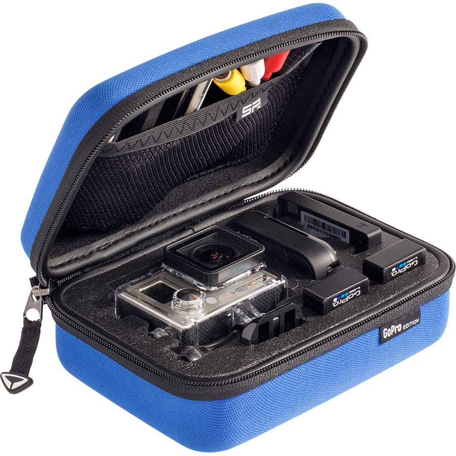 SP Gadgets POV Storage Case Small for Action camera cameras and accessories - blue