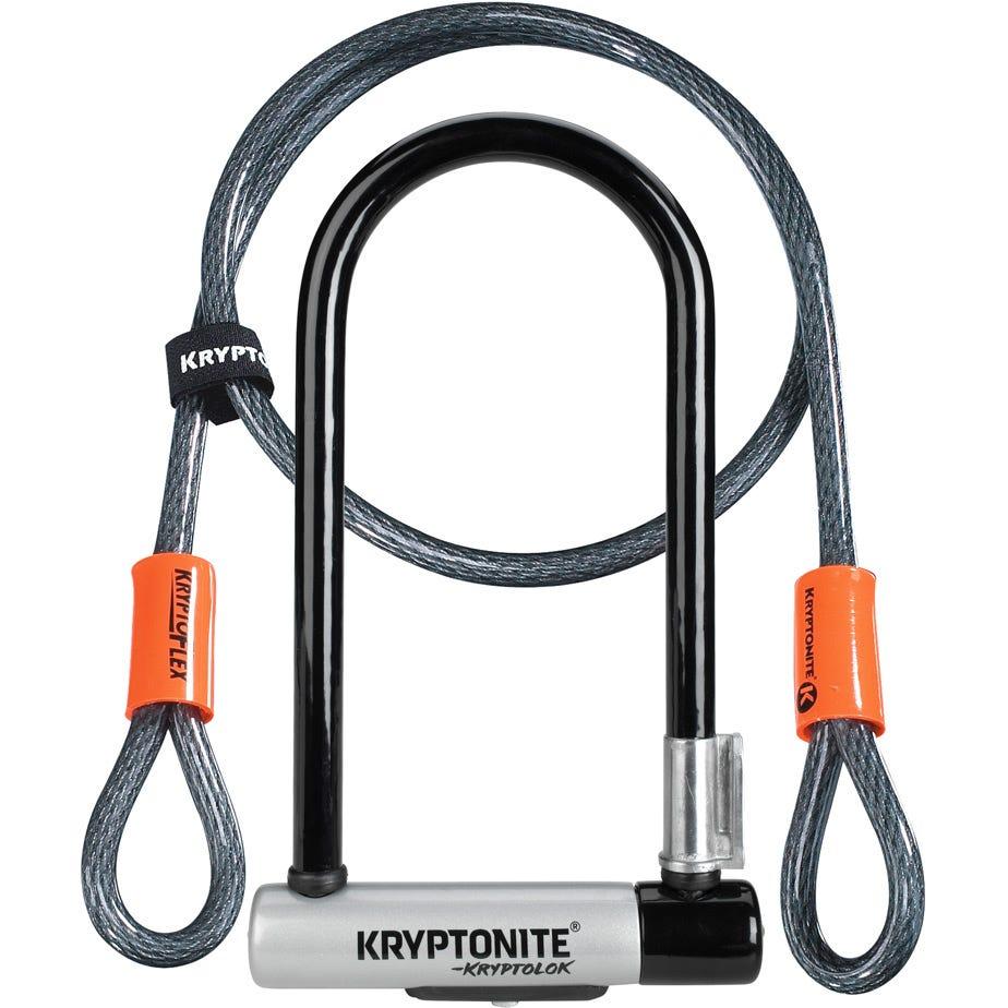 Kryptonite Kryptolok Standard U-Lock with 4 foot Kryptoflex cable Sold Secure Gold