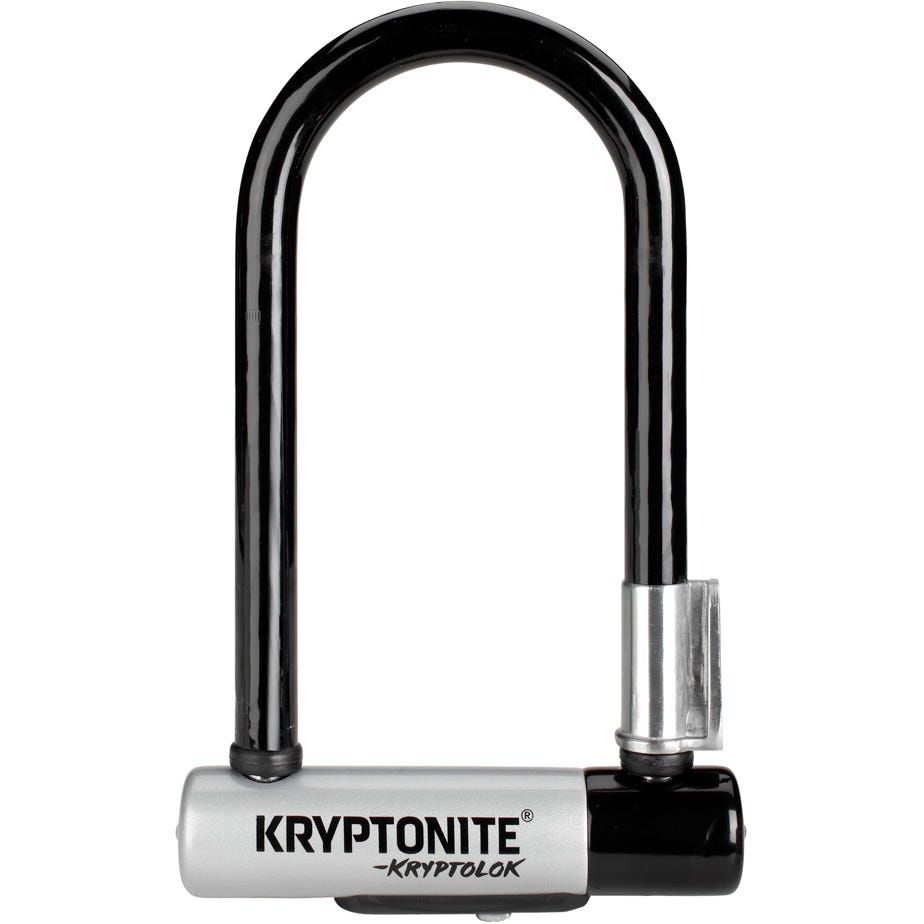 Kryptonite Kryptolok Mini U-Lock with Flexframe bracket Sold Secure Gold