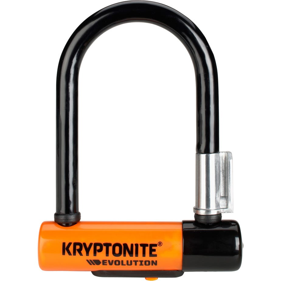 Kryptonite Evolution Mini-5 U-Lock with Flexframe bracket Sold Secure Gold