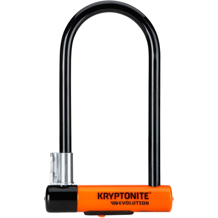Kryptonite Evolution Standard U-Lock with Flexframe bracket Sold Secure Gold