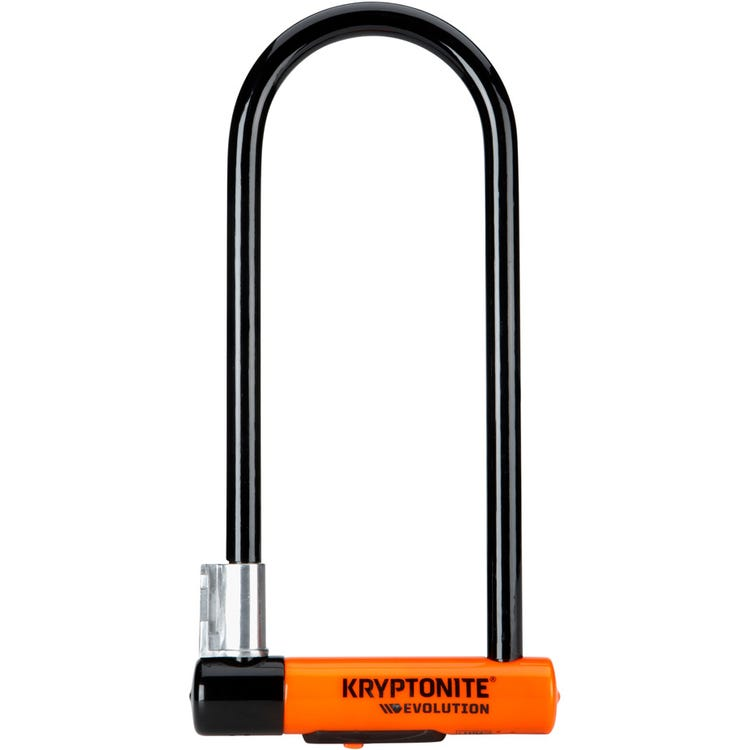 Kryptonite Evolution Long Shackle U-Lock with Flexframe bracket Sold Secure Gold