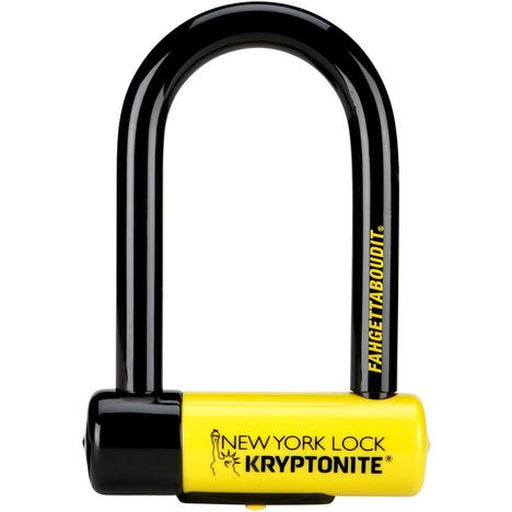 New York Fahgettaboudit U-Lock Sold Secure Diamond