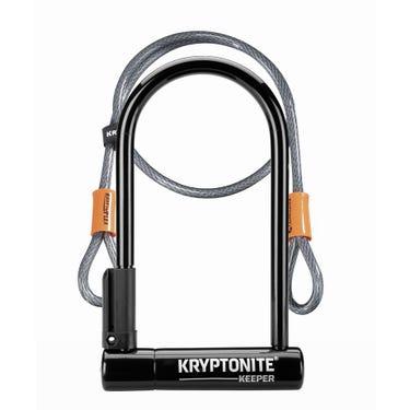 Keeper 12 Standard U-Lock with 4 foot Kryptoflex cable Sold Secure Silver