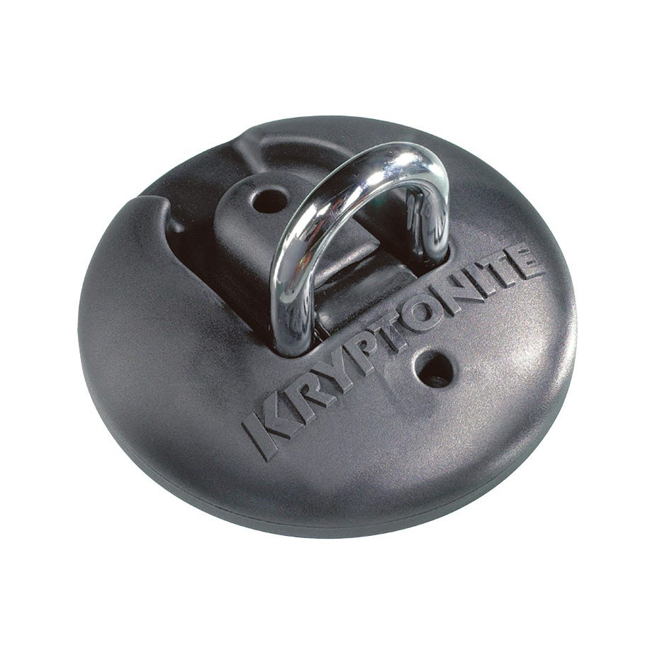 Kryptonite Stronghold Ground Anchor Sold Secure Gold