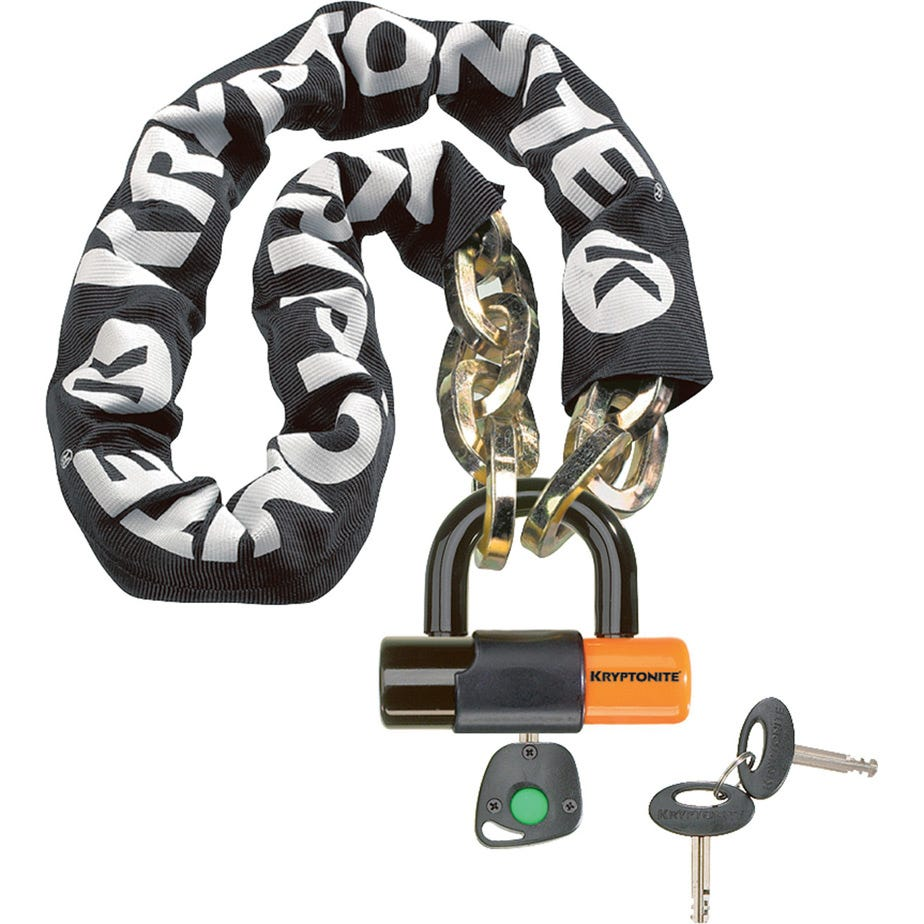 Kryptonite New York Chain (12 mm/100 cm) - with Ev Series 4 Disc Lock 14mm Sold Secure Gold