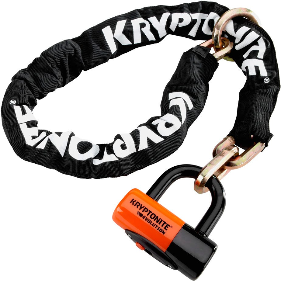 Kryptonite New York Noose (12 mm / 130 cm) - with Ev Series 4 Disc Lock Sold Secure Gold