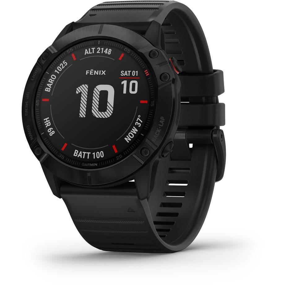 Garmin Fenix 6X Pro GPS Watch - Black with Black Band