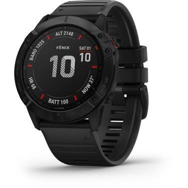 Fenix 6X Pro GPS Watch - Black with Black Band