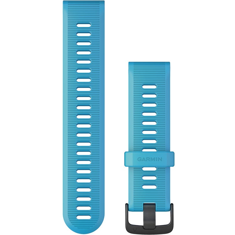 Garmin Quickfit 22 watch band - cyan blue