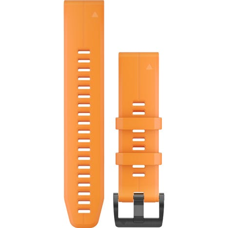 Quickfit 22 watch band - solar flare orange