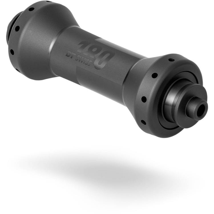 DT Swiss 180 Straight Pull front 100 mm Q/R, 20 hole black