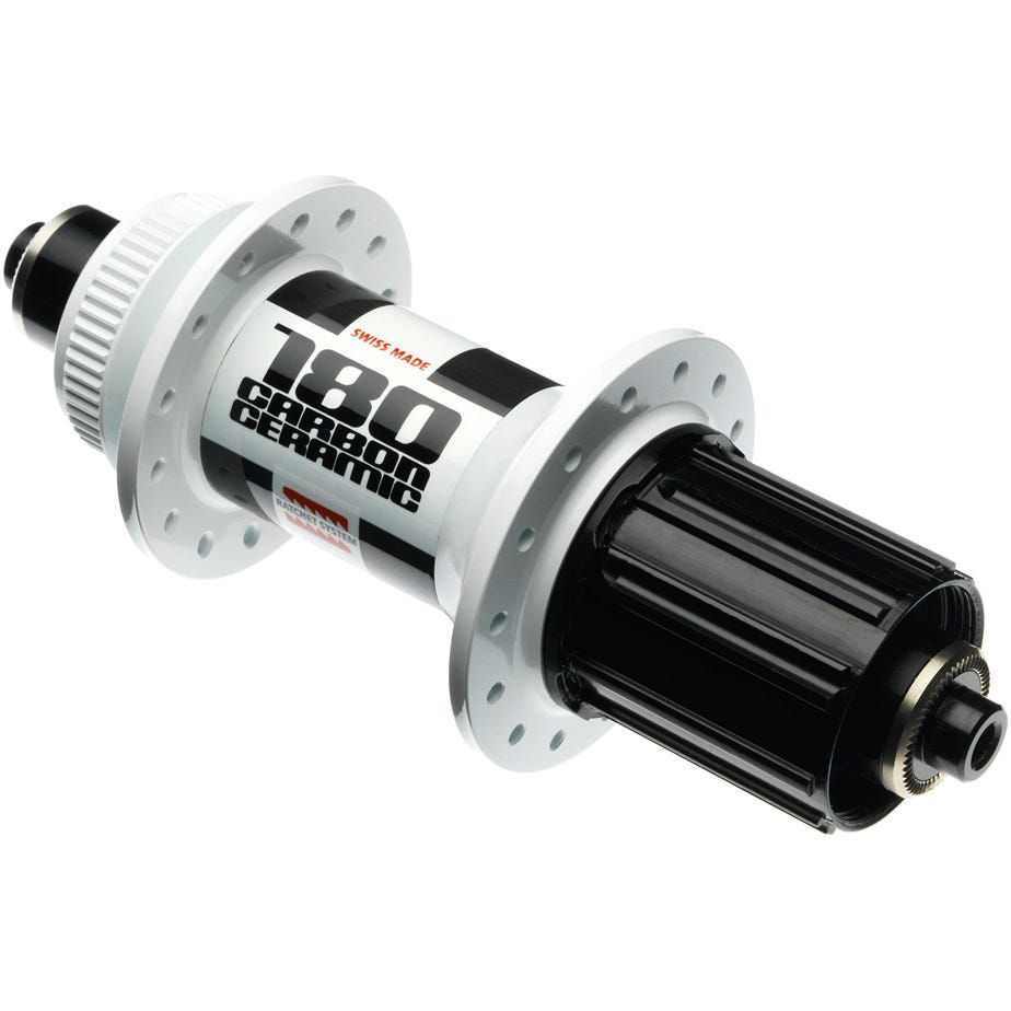 DT Swiss 180 Carbon Ceramic rear hub 32 hole 135 mm Centre-Lock disc white