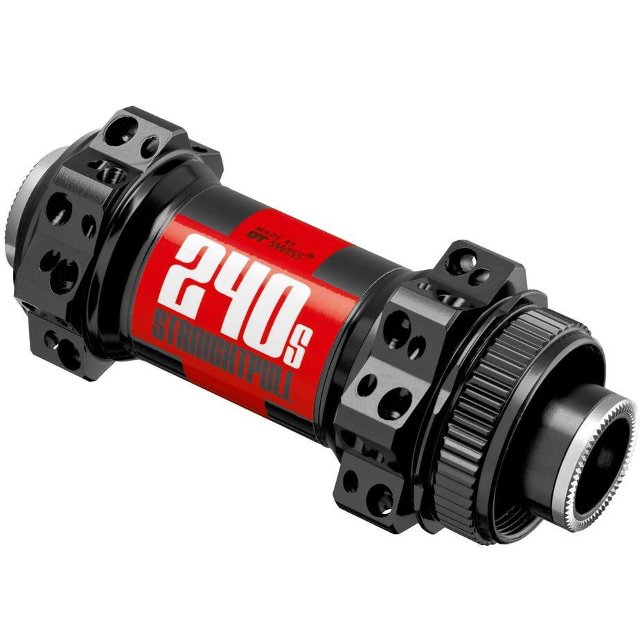 DT Swiss 240 Straight Pull front 28 hole 15 x 100 mm thru-axle Centre-Lock Black