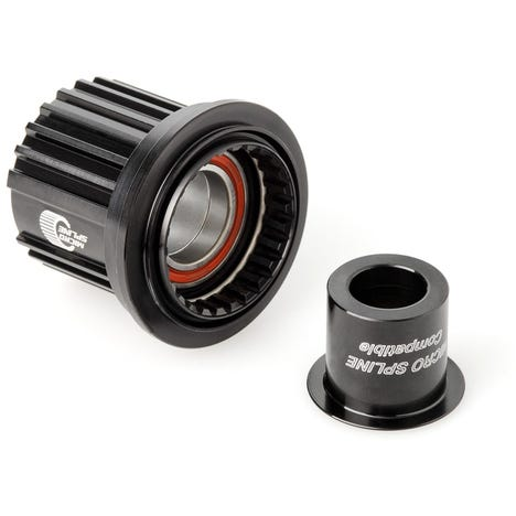 Ratchet freehub conversion kit with steel bearings
