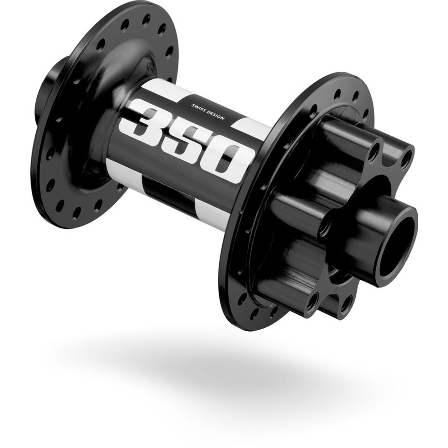 DT Swiss 350 front disc 6-bolt hub 28 hole 100 / 15 mm black