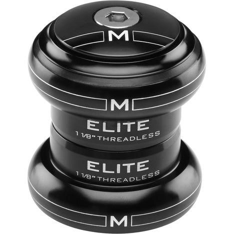 "Elite Headset 1"" Threadless Black EC30/25.4 EC30/27"