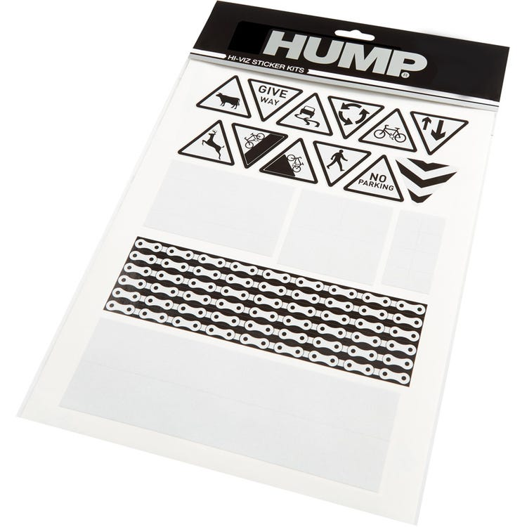 Hump Hi-Viz reflective sticker sheet, road signs