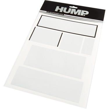 HUMP Hi-Viz reflective sticker sheet, shapes