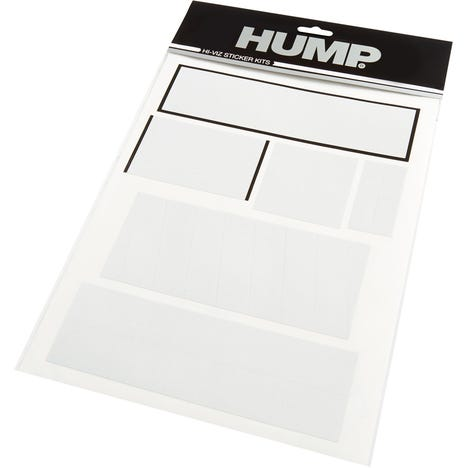 HUMP Hi-Viz reflective sticker sheet, shapes