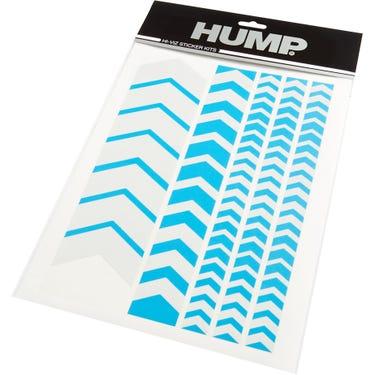 HUMP Hi-Viz reflective sticker sheet, chevron blue
