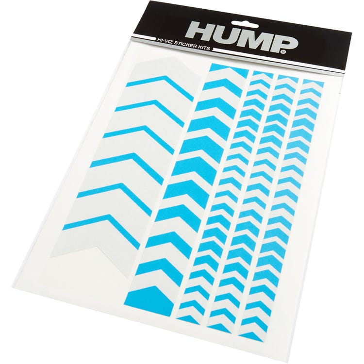 Hump Hi-Viz reflective sticker sheet, chevron blue