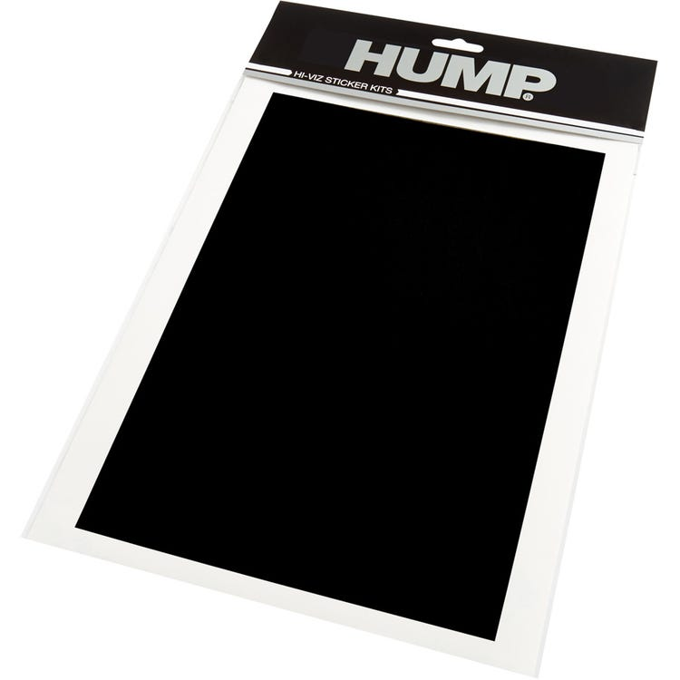 Hump Hi-Viz reflective sticker sheet, plain black