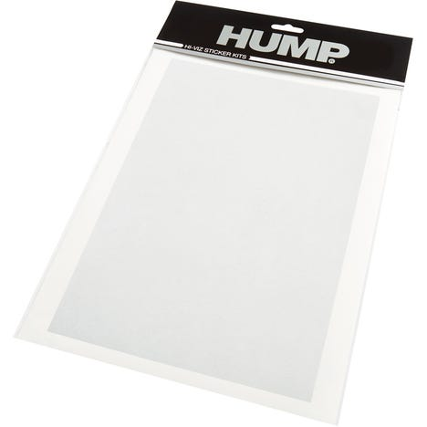 HUMP Hi-Viz reflective sticker sheet, plain silver