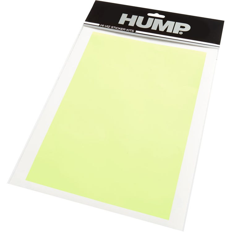Hump Hi-Viz reflective sticker sheet, plain yellow