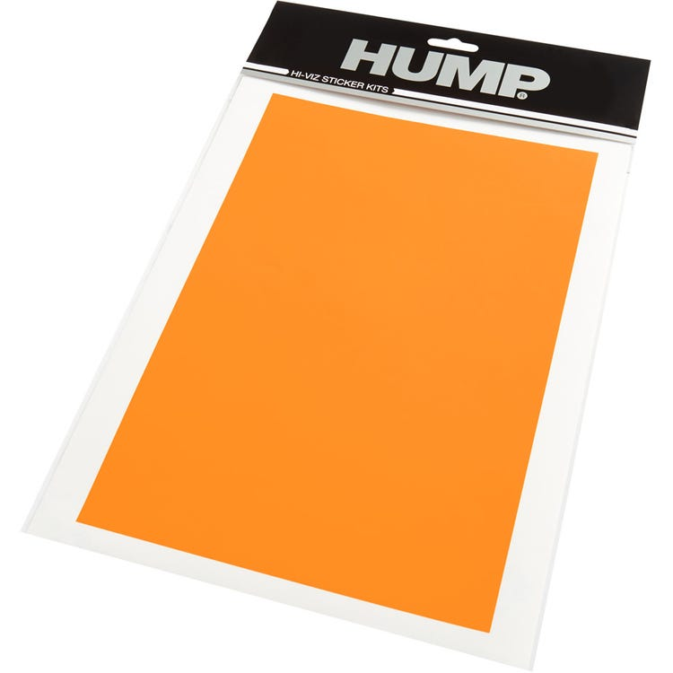 HUMP Hi-Viz reflective sticker sheet, plain orange
