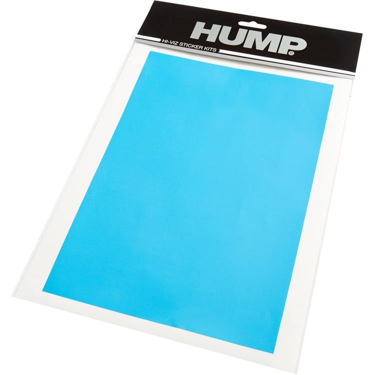 Hump Hi-Viz reflective sticker sheet, plain blue