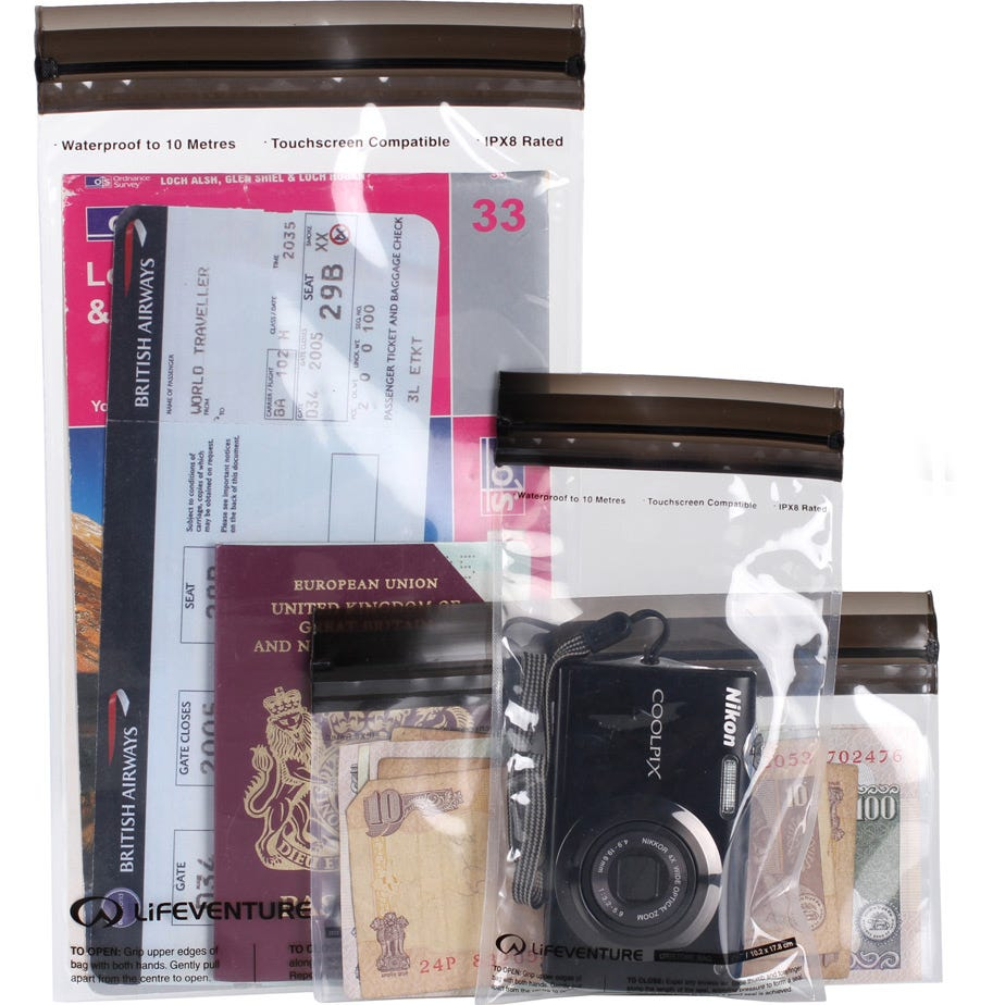Lifeventure DriStore Waterproof LocTop bags - For Valuables