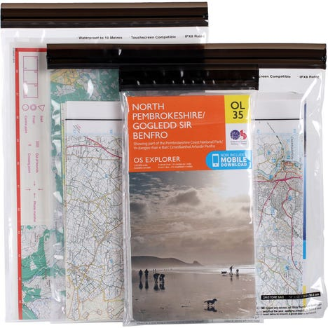 Lifeventure DriStore Waterproof LocTop bags - For Maps