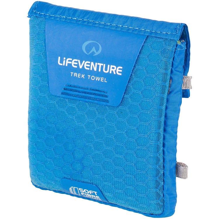 Lifeventure SoftFibre Trek Towel - Pocket - Blue (Pack of 10)