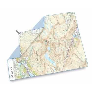 SoftFibre OS Map Towel - Giant - Snowdon