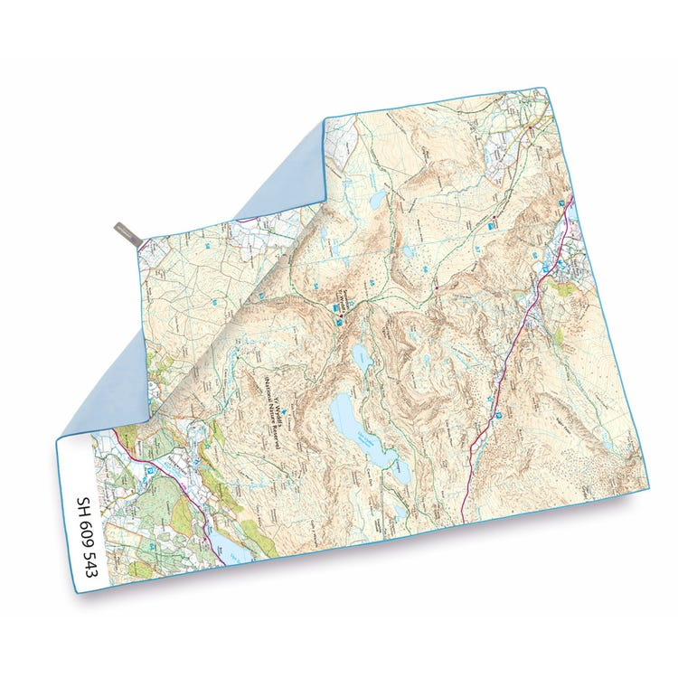 Lifeventure SoftFibre OS Map Towel - Giant - Snowdon