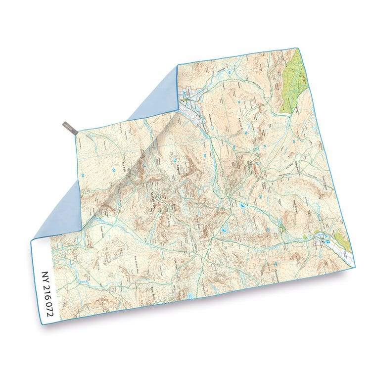 Lifeventure SoftFibre OS Map Towel - Giant - Scafell Pike