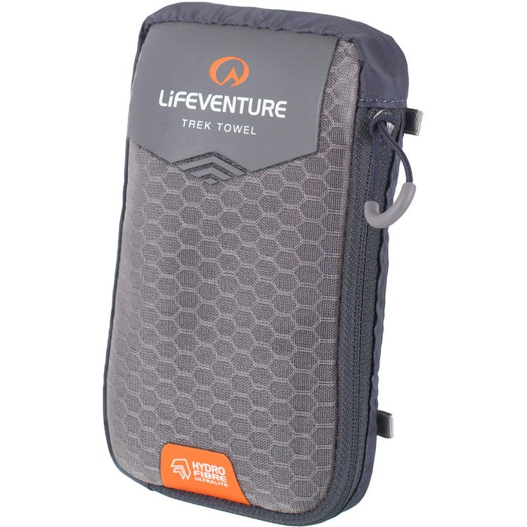 Lifeventure HydroFibre Trek Towel - Pocket - Grey