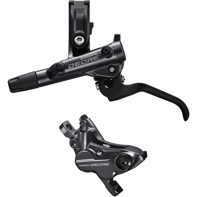 Shimano Deore BR-M6120/BL-M6100 Deore bled brake lever/post mount 4 pot calliper