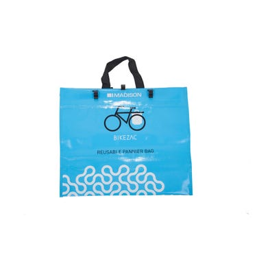 "Bikezac - the rack mounted ""bag for life"""