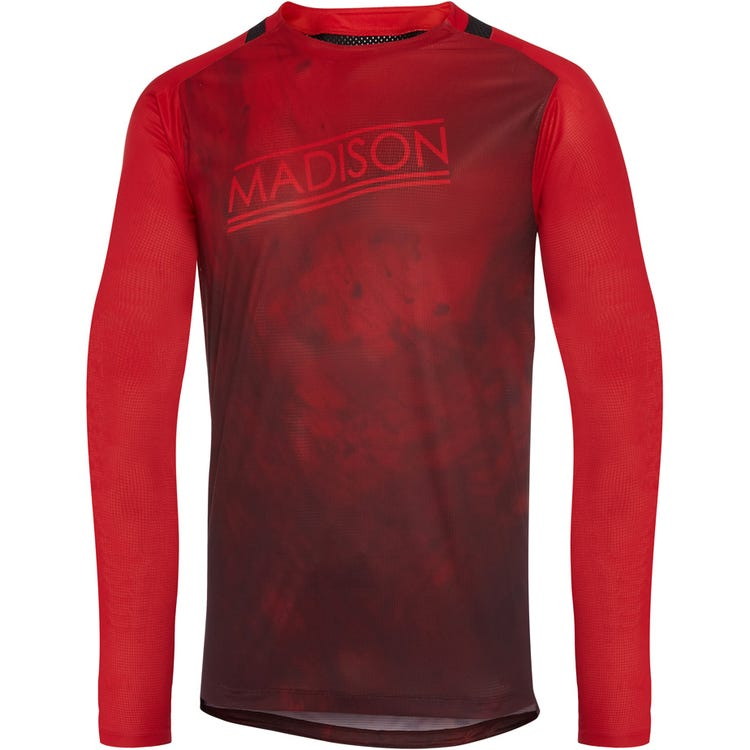 Madison Flux Enduro men's long sleeve jersey, marble