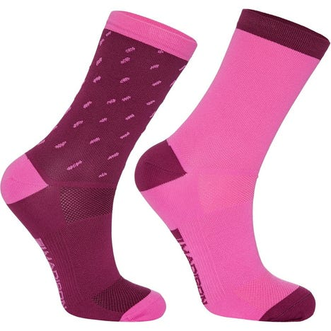 Sportive mid sock twin pack, rain drops