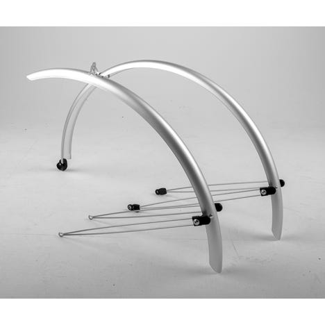Commute full length mudguards 700 x 46mm silver