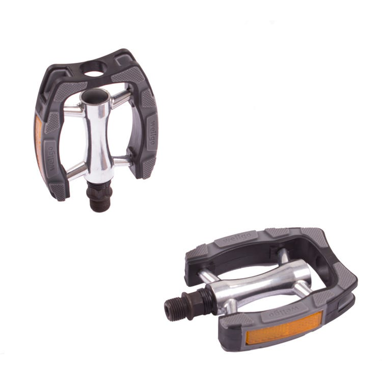 M Part Commute pedals, alloy body, plastic cage, Kraton top - 9/16 inch thread