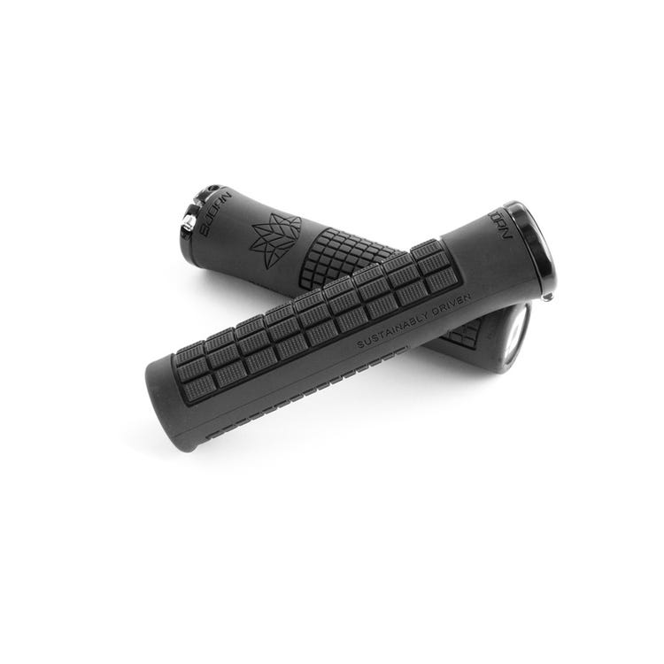 ODI Bjorn MTB / BMX Lock On Grips 135mm - Black (made from recycled grips)