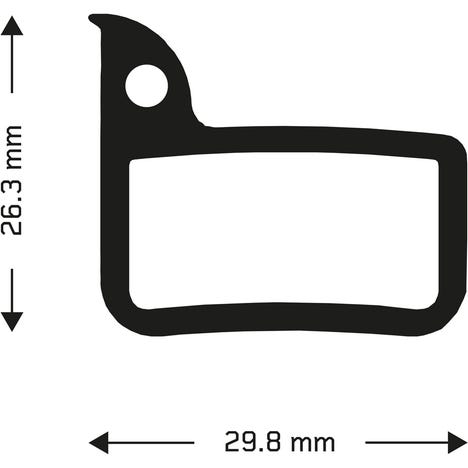 Sintered disc brake pads for Sram Red/Rival callipers