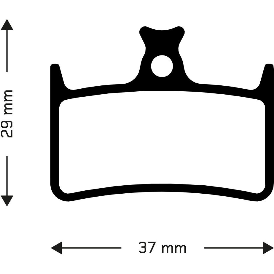 Aztec Sintered disc brake pads for Hope E4 callipers