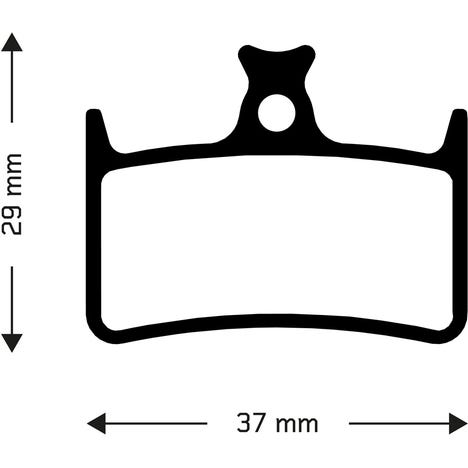 Sintered disc brake pads for Hope E4 callipers